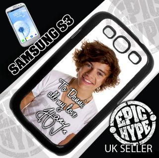 1D Harry Styles Samsung Galaxy S3 Cover Case Personalised Message One Direction