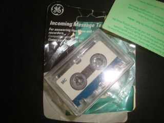 GE Micro Cassette Tapes MC 60 Incoming Message 2 Cassettes