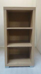 Reece Chunky Oak Effect 3 Shelf Bookcase Display Unit Cabinet DVD CD Storage New