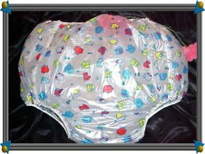 Adult Baby Diapers Snap Plastic Pants Dress 16 Prints