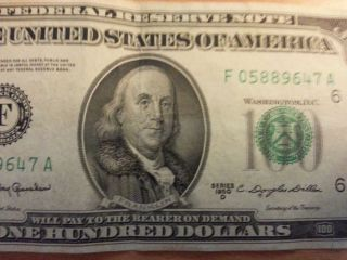 1950 D 100 Dollar Bill Big Face Old Hundred Real Cash Money Awesome Genuine