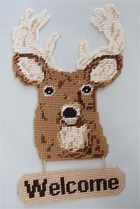 Deer Welcome Sign Plastic Canvas Pattern