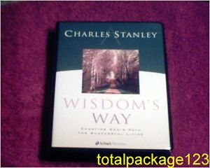 Charles Stanley Wisdom's Way Charting God's Path Success Living 4 Cassettes Wkbk