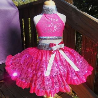 National Pageant Casual Wear OOC Cotton Candy Girl Glitz 4 6 7 $1 NR Bcb