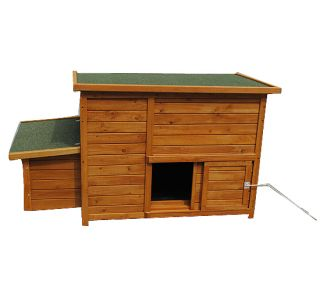 "87""L 57""w 32""H Wood Backyard Chicken Coop Hen Cage House Nest Box Rabbit Hutch"