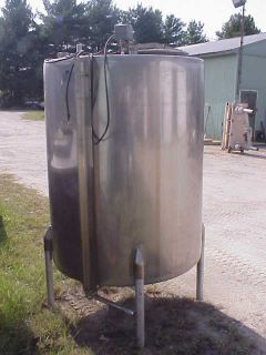 470 500 Gallon Stainless Steel Storage Tank Sanitary Construction in NJ