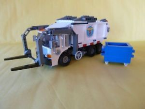 Lego Custom New York City Sanitation Garbage Truck RARE Refuse Recycle