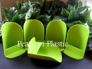Tupperware Canister Round Green Flour Rocker Scoop Scoops New Set 5