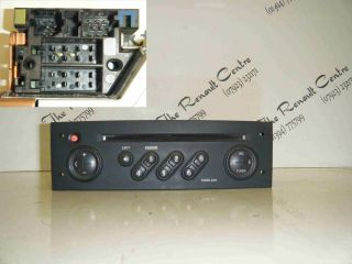 Renault Megane 2002 2008 CD Player Radio Tuner List Code