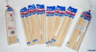 Lot of 64 Count Wooden Dowels Arts and Crafts Hobby Assorted Sizes New