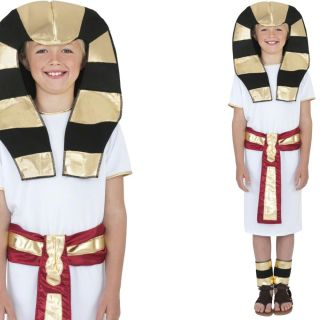 Boys Egyptian Prince King Pharaoh Boy Childrens Kids Fancy Dress Costume Hat