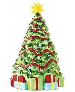"Martha Stewart Vintage Holiday Christmas Tree Cookie Jar 9 5"" New"