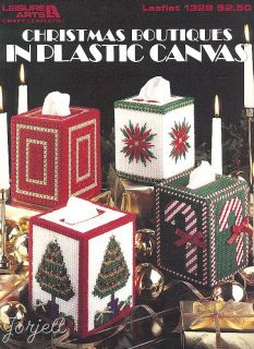 Christmas Boutiques Tissue Covers Plastic Canvas Patterns New
