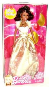 "2012 Happy Holidays Christmas Barbie African American 11"" Fashion Doll NRFB"