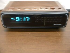 Vintage Panasonic Alarm Clock Radio RC 66 Blue Digital Display Works Nice