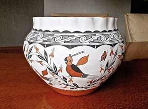 Myron Garcia Acoma Pueblo Native American Indian Hand Coiled Clay Pottery