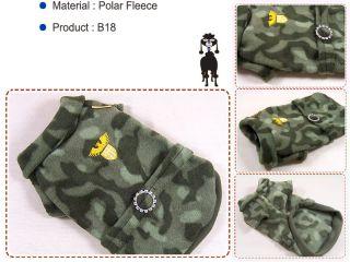 Dog Clothes Camouflage Fleece Camo Military Shirts B18