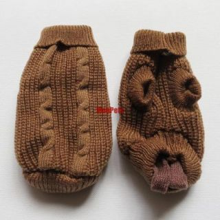 XS 3S 4S Teacup Toy Poodle Small Dog Sweater Puppy Tiny Pet Apparel Dog Clothes