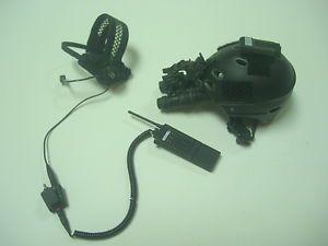 1 6 Scale Hot Toys Navy Seal Navspecwargru Protec Half Helmet NVG Radio Set Toh