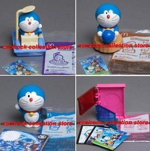 2011 China McDonald Happy Meals Toy Doraemon PVC 4 Toys Set