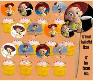 "Jessie Toy Story 1 5"" Cupcake Picks Cake Topper 12 Pcs"