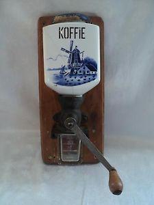 ★ Koffie Koffee Coffee Delft Blue Ceramic Glass Wall Grinder German Geschmiedet