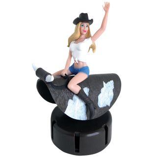 New Dashboard Babe Bull Rider Swinging Spinning Girl Hot Car Truck Accessory