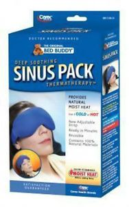 Bed Buddy Deep Soothing Sinus Pack Thermatherapy Hot Cold Head Eyes Therapy Heat