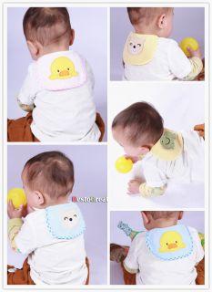 2pcs Child Baby Crawl sweat Cartoon Back Perspiration Wipes Cloth Absorbent