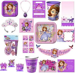 Disney Sophia The First Princess Birthday Party Supplies Many Choices
