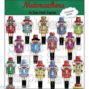 Christmas Clipart Set Nutcrackers Xmas Soldiers Digital Clipart Scrapbooking CU