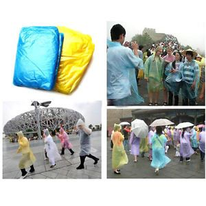 1pc Disposable Plastic Easy Tourist Raincoat for Travel Camping Hiking Outdoors