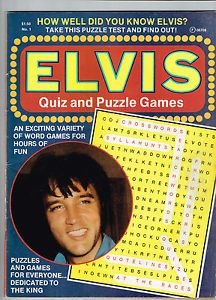 Elvis Quiz and Puzzle Games Vol 1 1 1977 Celebrity Communications Magazine