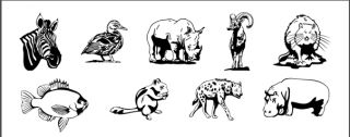 Wildlife Animal Clipart Vinyl Cutter Clip Art Vector CD