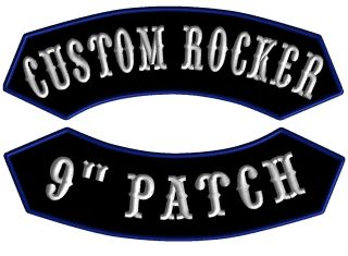 1 Custom Name Rocker Patch Tag Badge MC Club for Biker Vest Motorcycle Jacket 9""