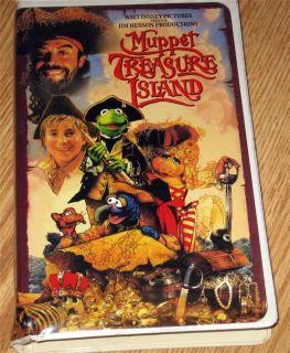 Muppet Treasure Island Movie VHS Tape Clam Shell Case Walt Disney Jim Henson 786936001938