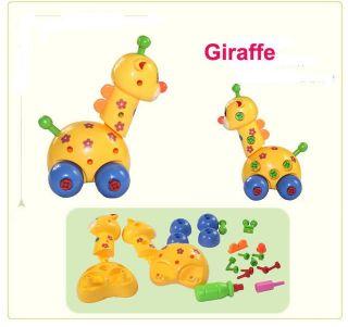 Kid Child Cartoon Animal DIY Disassambly Toy Car Baby Developmental Toy Gift