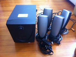 "Dell ""Altec Lansing"" 4 Speaker Computer Surround Sound System"