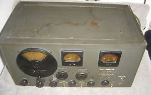 Vintage Hallicrafters SX 25 Receiver Ham Amateur Radio Communications Equipment