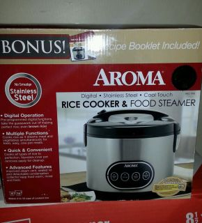 Aroma 8 Cup Digital Rice Cooker Food Steamer Arc 998 Healthy One Pot Meals