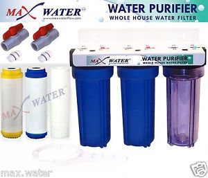 "3STAGE 10"" Whole House Water Softening Filter Softener"