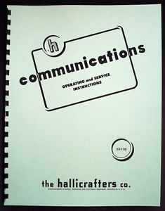 Hallicrafters SX 110 SX110 Communications Receiver Manual Ham Radio