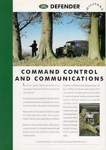 Land Rover Defender Military Command Control Communications 1995 96 UK Brochure