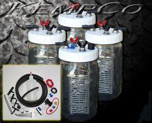 HHO Hydrogen Generator 4 Cell Kit Complete Dual Hook Up Kit