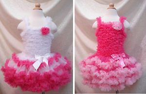 1pc Baby Girl Kid Ruffle Tutu Formal Pageant Dress Skirt Outfit Costume Clothes