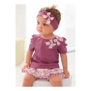 3pcs Kid Toddler Baby Girl Infant Top Pant Headband Outfit Costume Cloth 0 36M