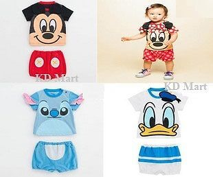 New Baby Boys Girls Micky Minnie Mouse Animal Costume Outfit Clothes Size 0 1 2