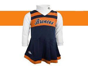 Denver Broncos Youth Infant Toddler Girls Cheerleader Outfit Dress Costume Set