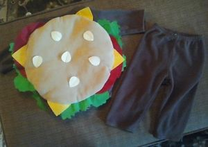 Old Navy Baby Halloween Costume Cheeseburger Hamburger 6 12 Months