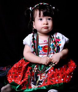 China Poblana Amazing Dress Toddlers Mexican Costume for Baby